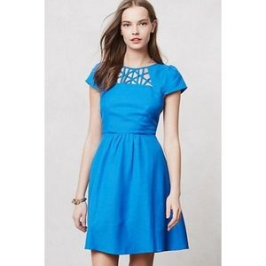 Anthropologie Maeve Blue Dress Size 10
